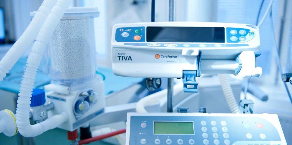 operationsutrustning för plastikkirurgi på conturkliniken