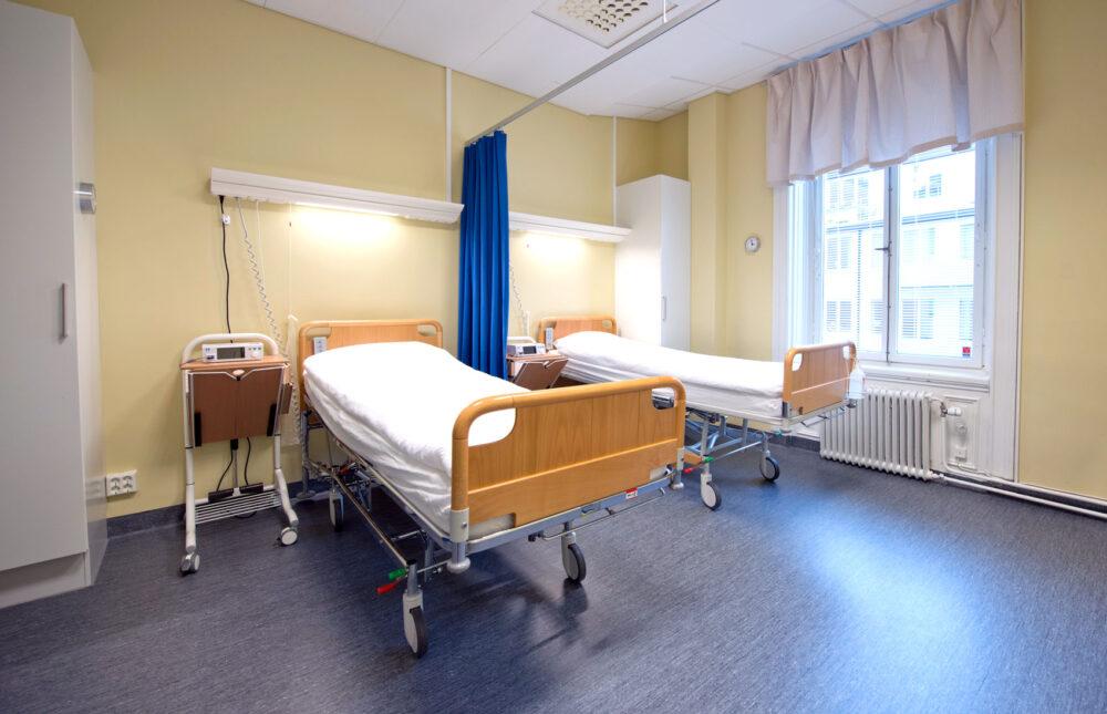 conturklinikens rum för patienter